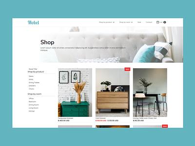 Furniture Shop - Template figma webflow blue shop furniture ui design eccomerce web design