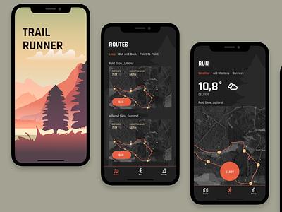 Location Tracker location tracker running app trail running ui ui design product design mobile ios dailyui