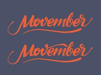 Movember - Caligraphy