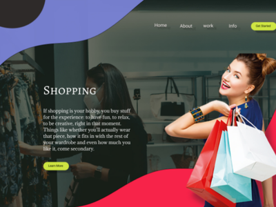 Shopping Page template ui design