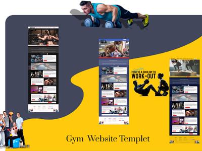 Gym webpage best ui ux design website app