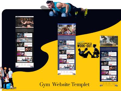 Gym webpage ui ux website webpage app