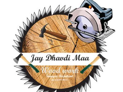 Wood works logo Design logo design
