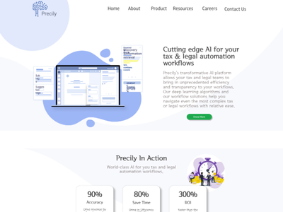 Precily Webpage Design website design