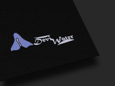Devi water logo logo design mockup design