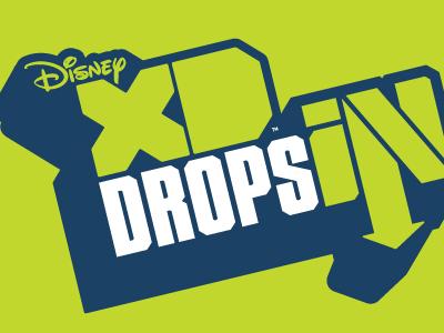 DISNEY XD - DROPS IN - LOGO DESIGN branding skateboarding snowboarding disney logo design logo