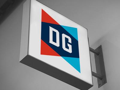 DG HEATING AND COOLING INC. - LOGO dan brandon logo design branding art direction logo
