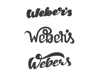 Weber's Preliminary Logos