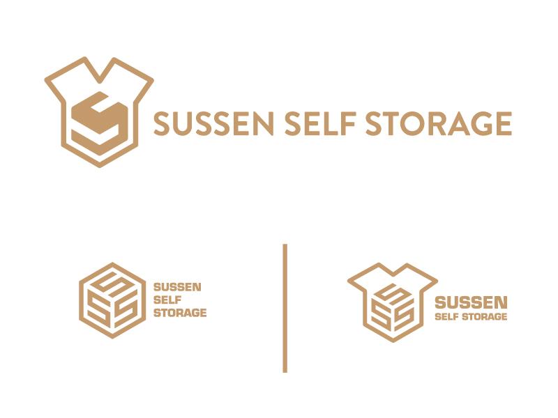 Storage Logo sign storage typography logo identity brand box