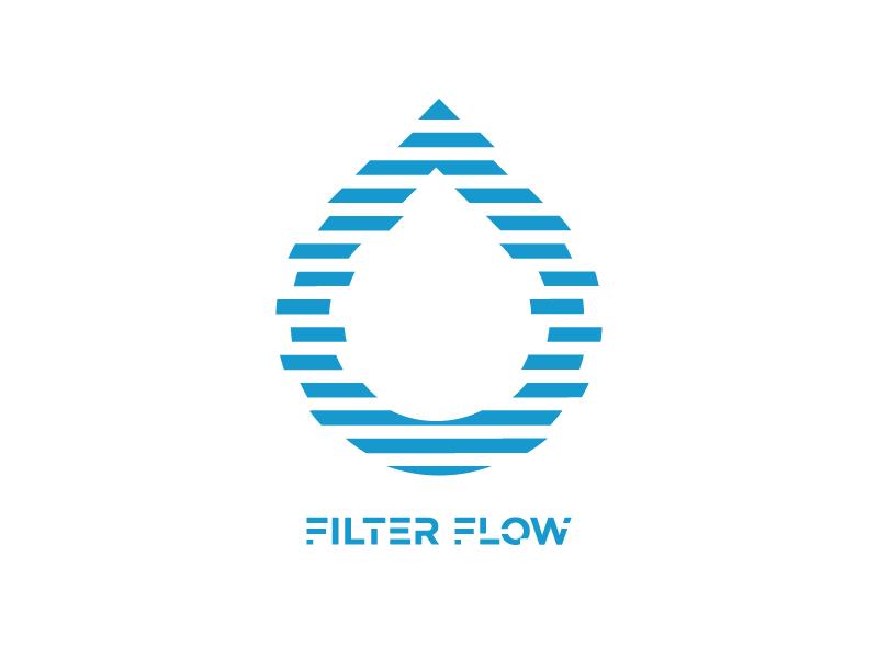 Filter Flow Logo design brand app drop typography filter mark identity logo branding