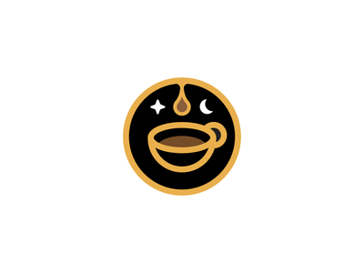 late night coffee concept symbol coffee