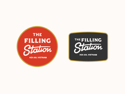 the filling station sign route 66 gas station retro branding wordmark id logo bar restaurant