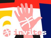 six dribbble invites!