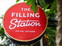 the filling station circle sign