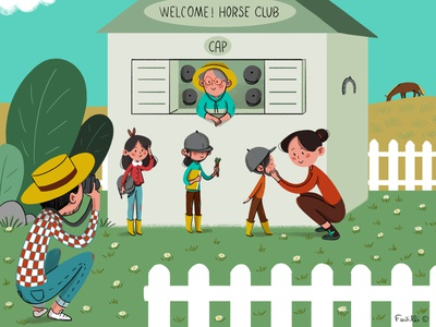 Horse Club horses children book illustration design kids art digital illustration illustrations kids illustration