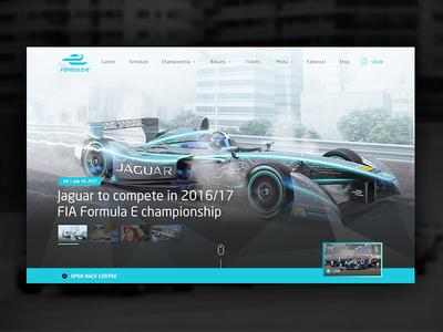 Formula E Redesign Website