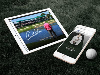 Arnold Palmer Long Form drink sports biography tribute golf branding art direction visual long form arnold palmer pga tour