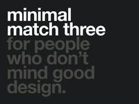 Minimal Match Three title