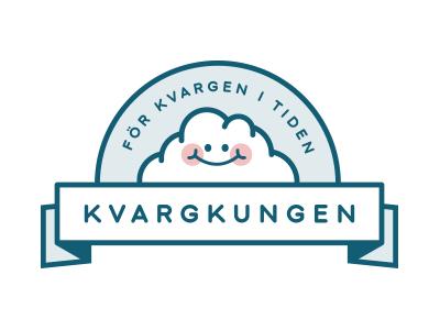 Kvargkungen logo cheese quark identity smoothies food logo