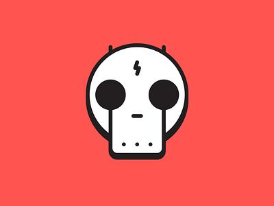 Beware of bots. evil skull icon bot
