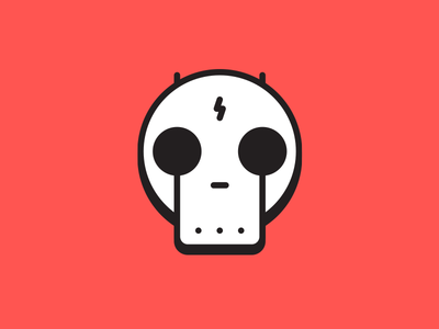 Beware of bots. evil skull icon bot