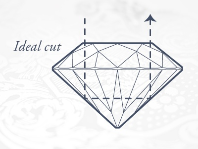Diamonds'R'Us  diamond vector illustration outline