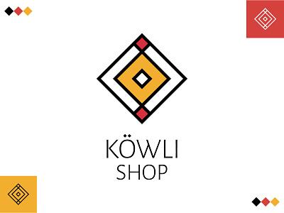 KÖWLI SHOP - Logo identity square fashion persian gypsy logodesign geometic branding logo design