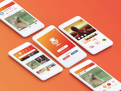 MadLipz - UIUX Design gradient userexperience recorder voice ios android branding video orange app design mobile userinterface ui uidesign uiux