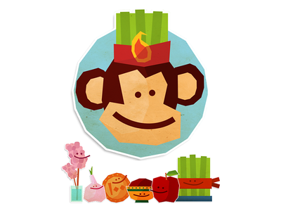 Nowruz Telegram Stickers messaging app new year apple monkey persian nowruz telegram stickers illustration