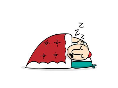 Haji Sticker: Sleeping characterdesign vector art emoji sticker character sleeping funny persian illustraion cartoon