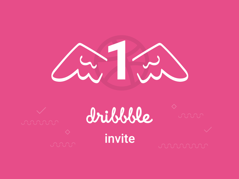 Dribbble invite giveway wing illustraion dribble invites dribbble invite dribbble invite