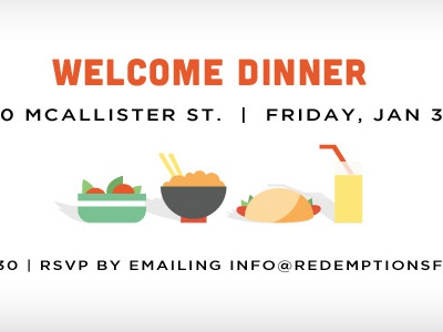 Welcome Dinner announcement