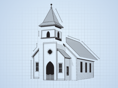 Church blueprint graphic by madison hamilton dribbble church blueprint graphic malvernweather Images