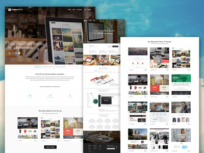 Dribbble Debut - Free WordPress Themes by Modern Themes