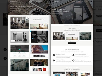 ModernThemes Revamp - Free & Premium WordPress Themes responsive design web parallax free fullscreen theme wordpress