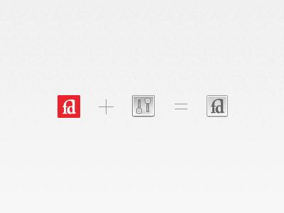 FD + WP fontdeck wordpress plugin icon grey red