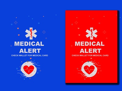 Medical Alert Stickers Design logo design colorful logotype design illustration vector art graphic design vector illustration corporate identity