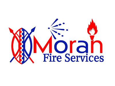 Moran Fire Services Logo vector illustration colorful branding graphic design vector art corporate identity vector logo design