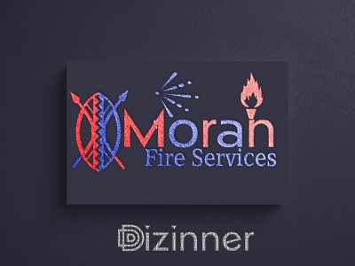 Moran Fire Services logo designer logotype dribble company branding brand branding vector illustration corporate identity logo design graphic design vector art vector illustration logo