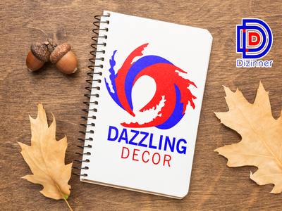 Dazzling Decor Stationary Branding company brand logo startup art direction drawing adobe illustrator adobe photoshop illustartor graphic design marketing campaign marketing agency dribble stationery diary branding vector art corporate identity brand identity logo design logodesign logo
