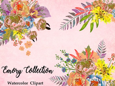 Emory Collection design watercolor illustration watercolor flower watercolor flowers watercolor florals printables watercolor illustration wedding design instant download png