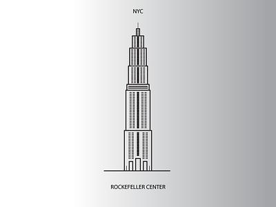 Rockefeller Center black and white simple ny new york rockefeller illustrator illustration new york city nyc rockefeller center