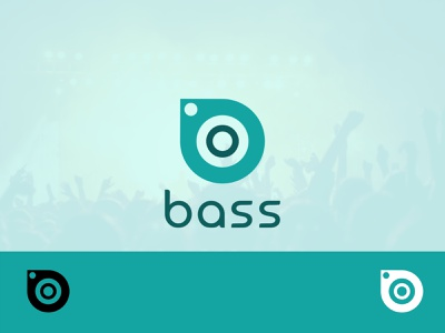 Bass/ music streaming brand logo flat logodesign vector minimal logo illustration design dailylogochallenge branding