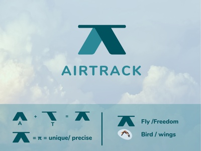 Airtrack / airline logo intelligent smart flat airlinelogo vector minimal logo illustration design dailylogochallenge branding