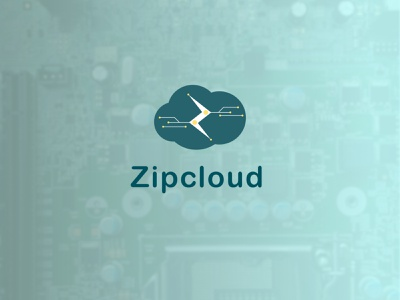 Zipcloud / cloud computing modern cloud computing intelligent logodesign flat vector minimal logo illustration design dailylogochallenge branding