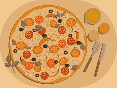 pizzza monochrome pizza illustration