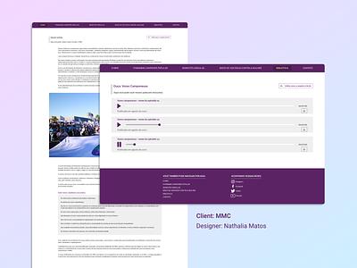 MMC - Web prototype web webdesign uidesign ui site