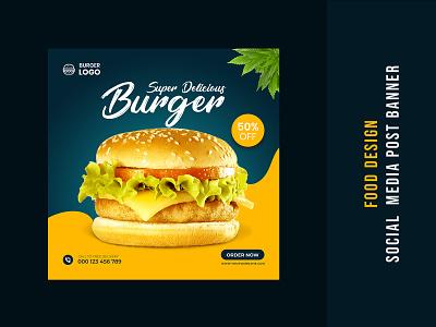 Food Social Media Banner Design instagram banner post banner banner healthy food food banner design web banner ads social