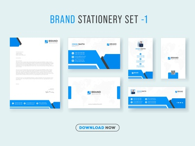 Corporate Brand Identity Set and Stationery Pack Design Template banner social facebook cover id card letterhead logo design business card corporate template print graphic design stationery identity branding ads instagram web banner