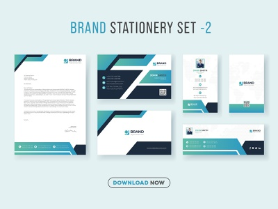 Business Brand Identity Set and Stationary Pack Design Template facebook cover id card letterhead business card corporate business mockup vector social template new minimalist stationery identity print logo branding graphic design